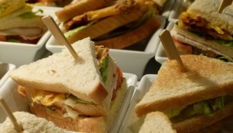 selling home-made sandwiches