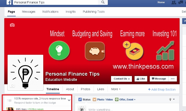 Personal Finance Tips facebook page