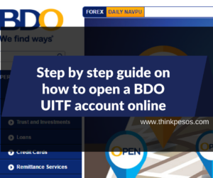The Step by step guide on how to open a BDO UITF account online.